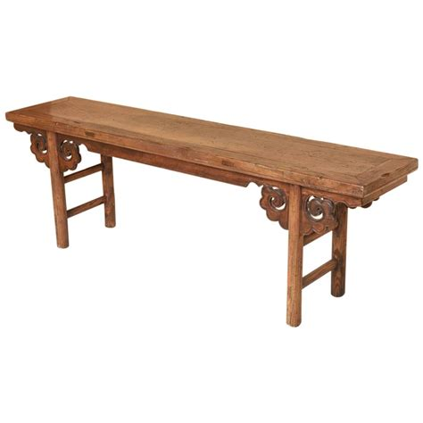 oriental bench chinese wood bench stool at 1stdibs