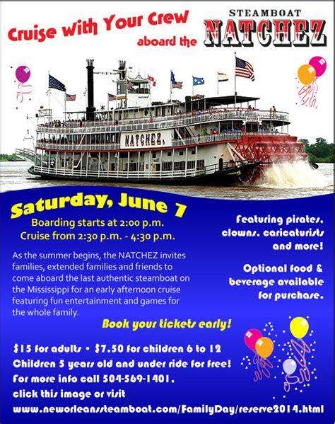 steamboat natchez coupon steamboat natchez family fun cruise june 7 nola mommy