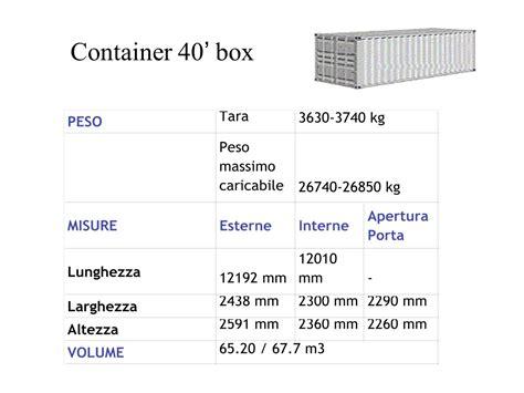 Dimensioni Interne Container 40 Piedi Mezzi Di Carico E Di Movimentazione Ppt