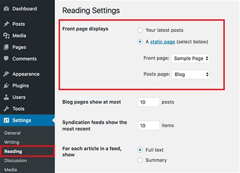 membuat front page wordpress what is static front page in wordpress