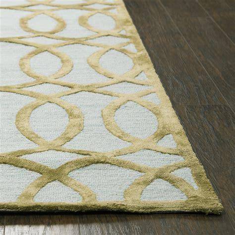 Circular Floor Rugs by Circular Trellis Wool Area Rug In Ivory Gold 8 X 10