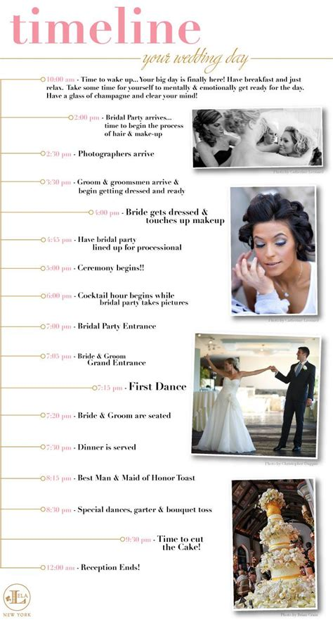 wedding timeline template ideas  pinterest