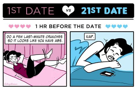 Cute Dating Memes - first date vs 21st date weknowmemes