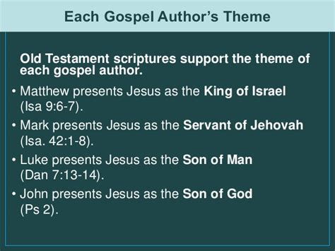 themes of each book of the new testament overview of the gospels all nations leadership institute