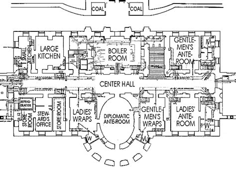 floor plan of the white house ground floor white house museum