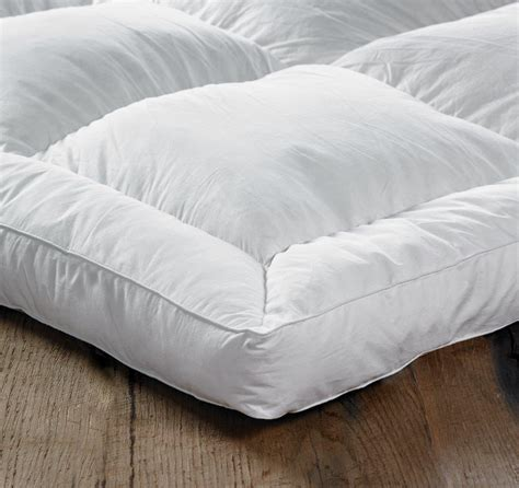 king size feather bed euroquilt goose feather down king size bed mattress