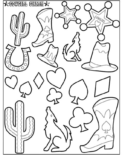 coloring page cowgirl cowgirl charm 2 crayola com au