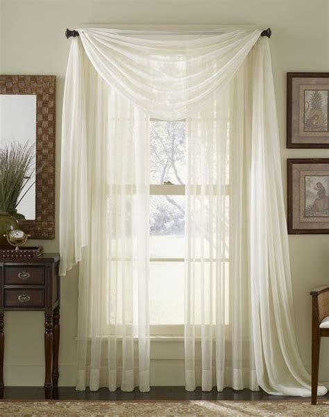 how to hang sheer scarf curtains sheer curtains for large windows platinum voile flowing