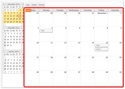 design calendar in asp net event calendar with day week month views for asp net