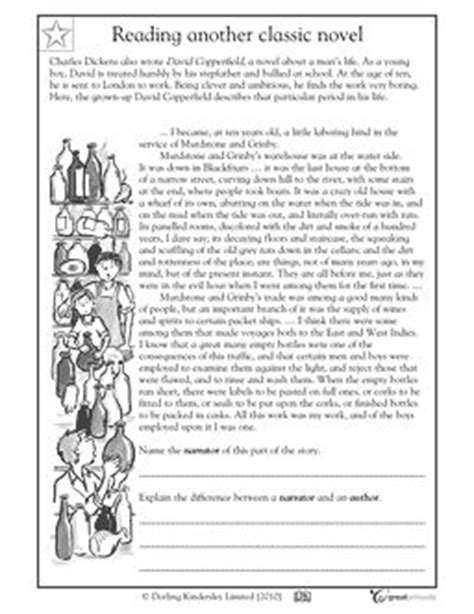charles dickens biography reading comprehension comprehension reading comprehension and point of view on
