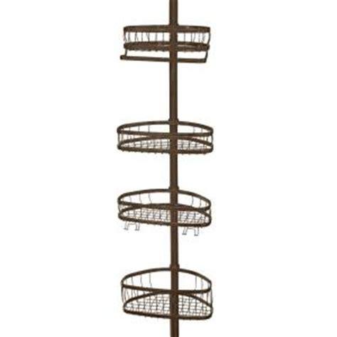 interdesign york tension pole shower caddy in bronze 42671