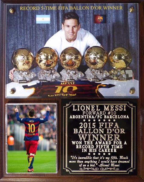 lionel messi records lionel messi record 5th ballon d or photo plaque barcelona