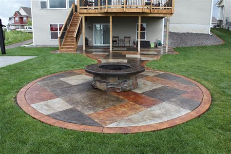 Concrete Patio Fire Pit Fire Pit Design Ideas Patio Ideas With Firepit
