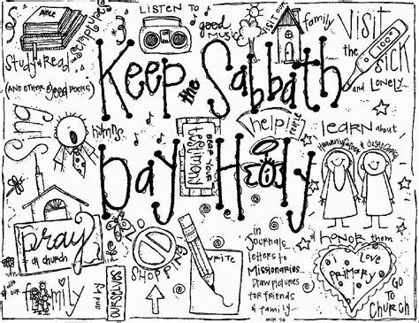 Lds Coloring Pages Sabbath Day | melonheadz lds illustrating keep the sabbath day holy