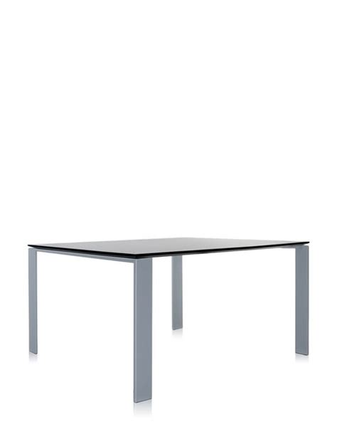 kartell four table aluminum table kartell table four carr 233 e noir aluminium