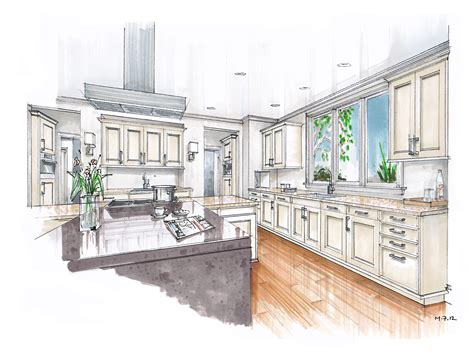 kitchen drawing rendering mick ricereto interior product design page 2