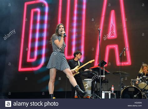 dua lipa on stage dua lipa performs on stage at the stars for free 2016 open
