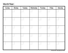 Calendar 2017 Monthly Blank Printable Monthly Calendar 2017 Calendar Template