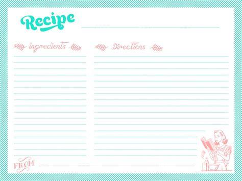 Printable recipe cards   Martensitak