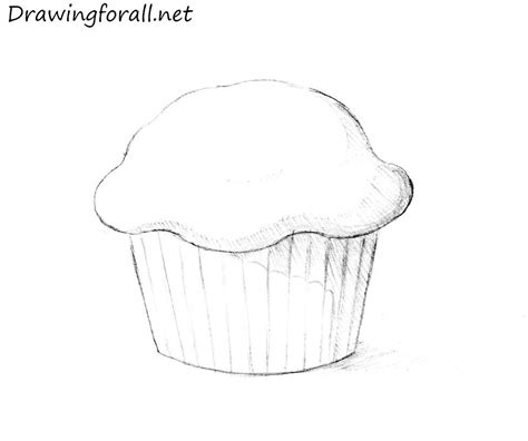 Drawing A by How To Draw A Muffin Drawingforall Net