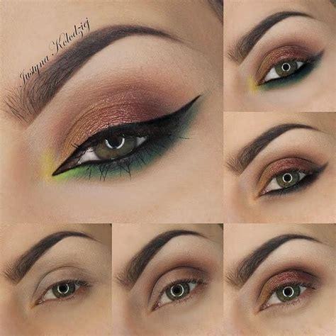 imagenes de ojos vacanos maquillaje y delineado paso a paso belleza