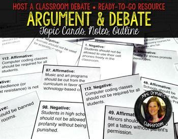 debate evidence card template argument and debate mini unit topic cards outline notes