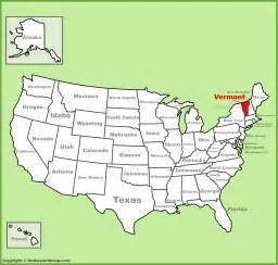 Vermont In Usa Map by Vermont Location On The U S Map