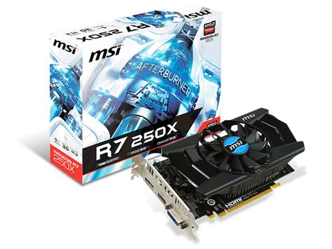 Vga Amd Radeon R7 200 Series msi r7 250x graphic card msi ราคา ซ อ ขาย สเปค โปรโมช น ม อสอง notebookspec