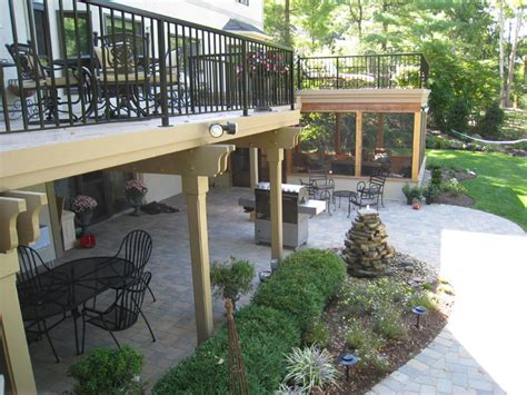 backyard patios and decks dayton deck and patio combinations dayton cincinnati