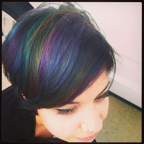 iridescent hair color iridescent envy rainbow hair color ideas popsugar