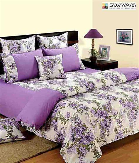 mauve bedding set swayam mauve white floral cotton comforter buy swayam mauve white floral cotton