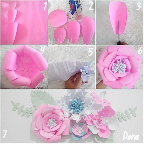 gambar  membuat kerajinan bunga kertas part  kepompong