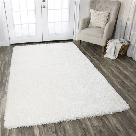 solid white rug commons plush tufted area rug in solid white 9 x 12
