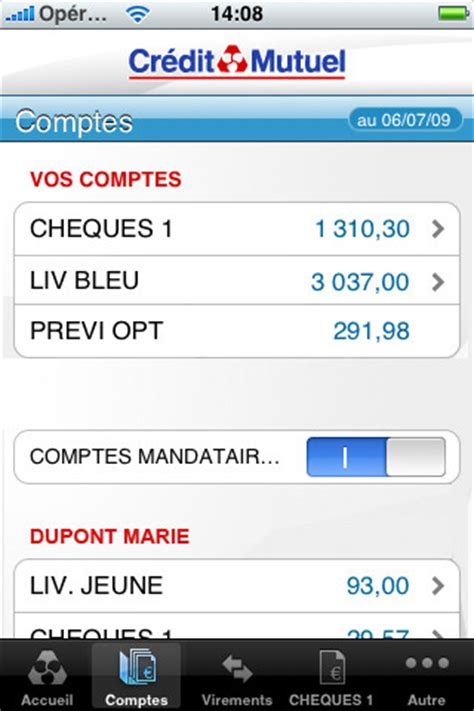 credit mutuel massif central application bancaire iphone