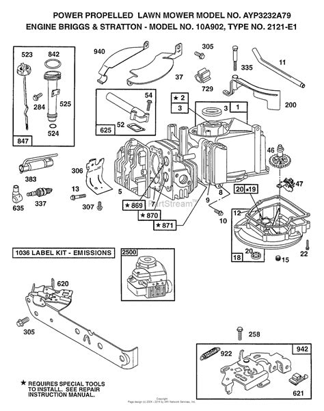 briggs and stratton engine parts diagram ayp electrolux 3242a89 1998 parts diagram for engine