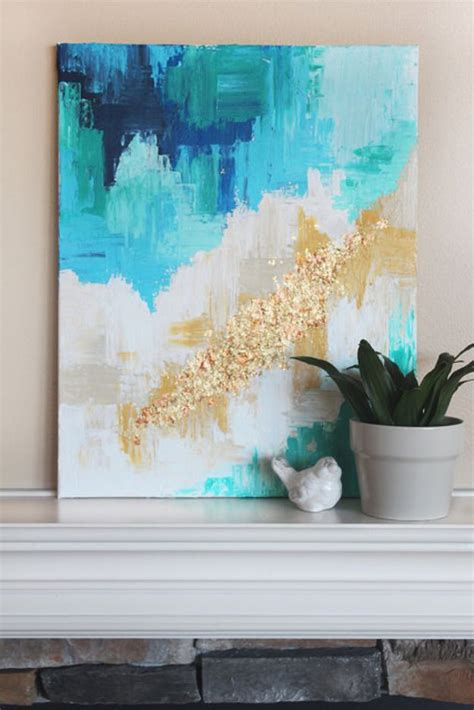 Abstract Art Home Decor | 76 brilliant diy wall art ideas for your blank walls
