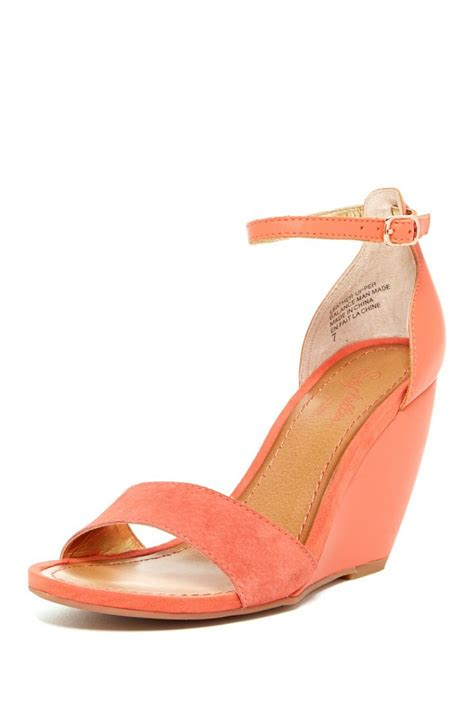 coral wedge sandals thyme wedge sandal on hautelook 49 00 shoes