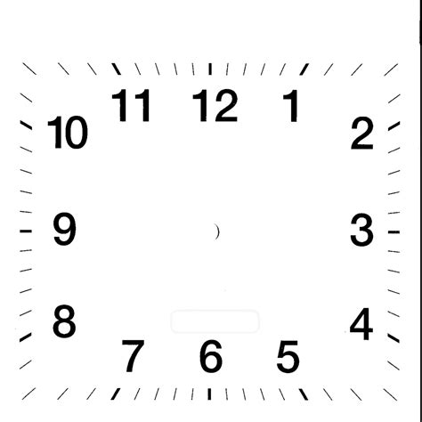 printable square clock face printable blank clock face clipart best