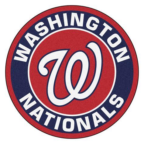 mlb logo rugs washington nationals logo roundel mat 27 quot area rug