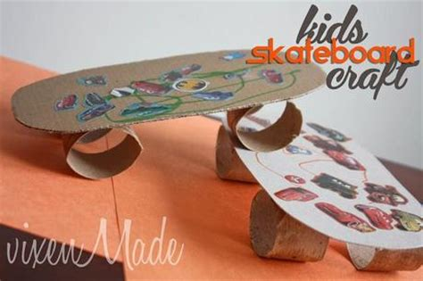 How To Make Paper Skateboard - skateboard craft paperblog