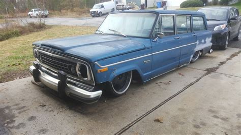 bagged jeep grand bagged 1978 jeep wagoneer rat rod for sale in chesapeake