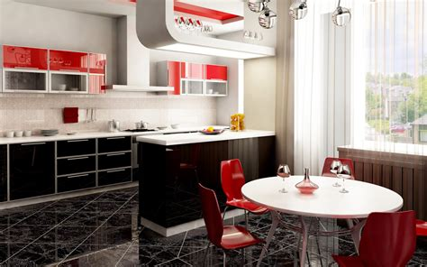 red kitchen decor ideas black and red kitchen home decorating ideas
