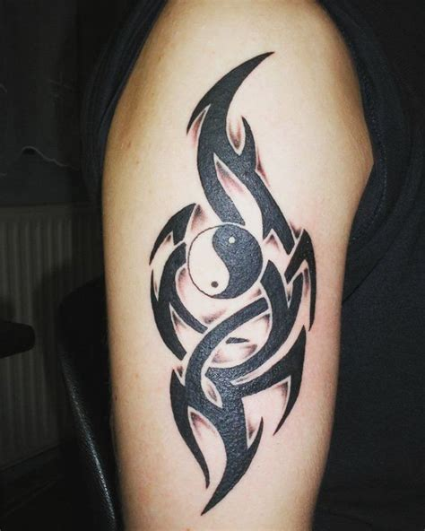 ying yang tribal tattoo 50 mysterious yin yang designs tribal symbols