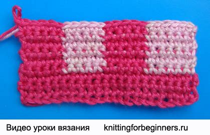 knitting for beginners ru начинаем вязать видео уроки вязания 187 двухцветный