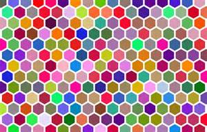 colorful design clipart colorful hex grid pattern 3