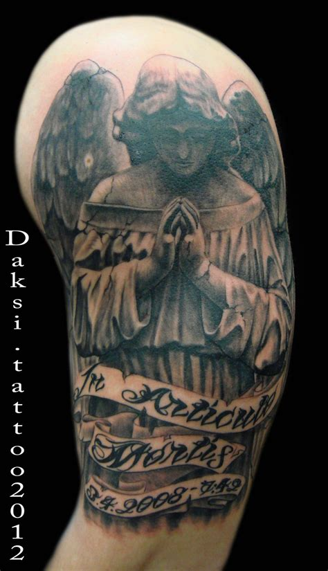 angel tattoo half sleeve designs angel tattoos and designs page 511