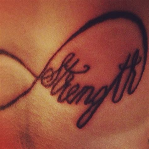 infinity tattoo strength pin by melinda howard on tattoos pinterest