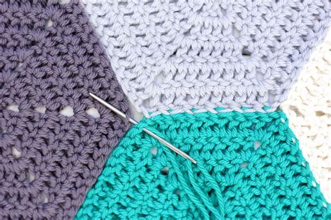 crochet pattern join how to join crochet hexagons with an invisible seam