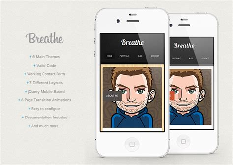 Html5 Jquery Mobile Templates