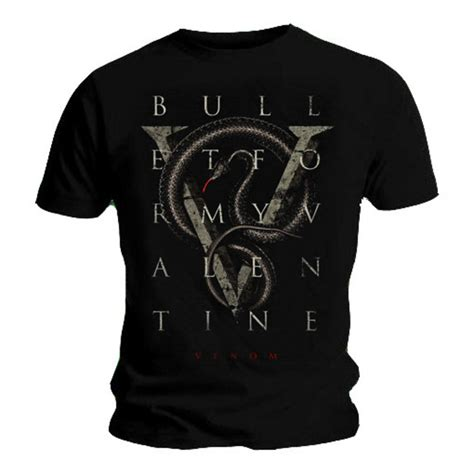bullet for my clothing official t shirt bullet for my v is for venom